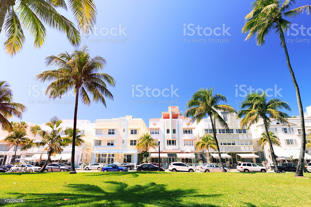 Miami Beach, Ocean Drive stock photo