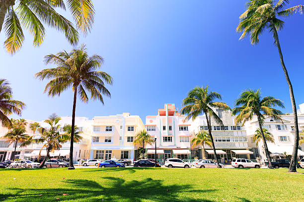 Miami Beach, Ocean Drive stock photo