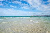 Scenic North Miami Beach with fishing pier.