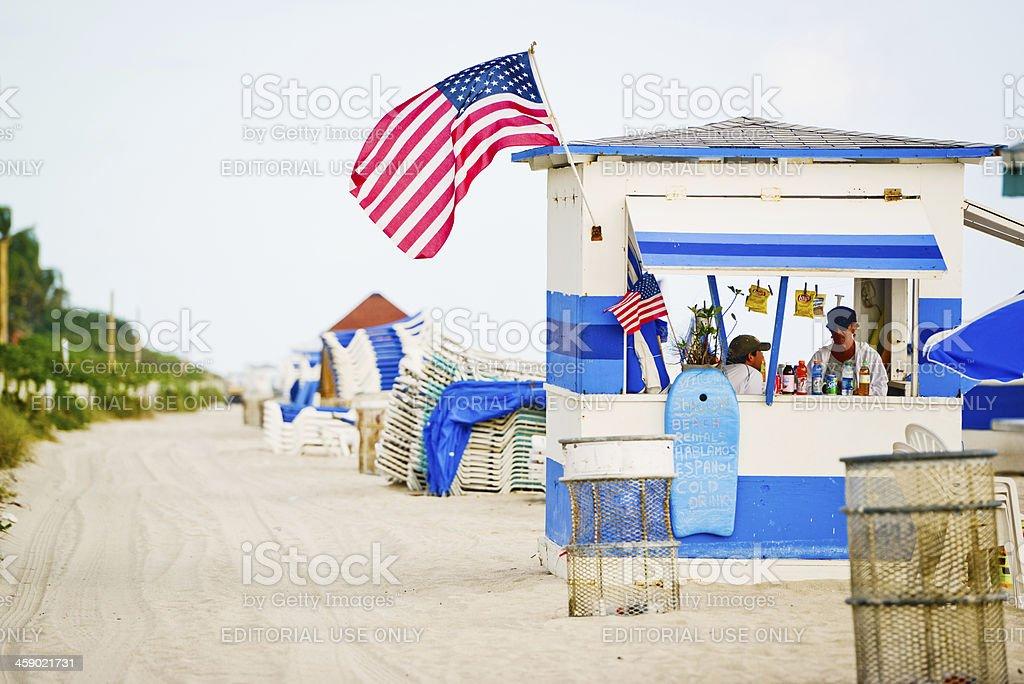 Miami Beach Rentals Kiosk royalty-free stock photo