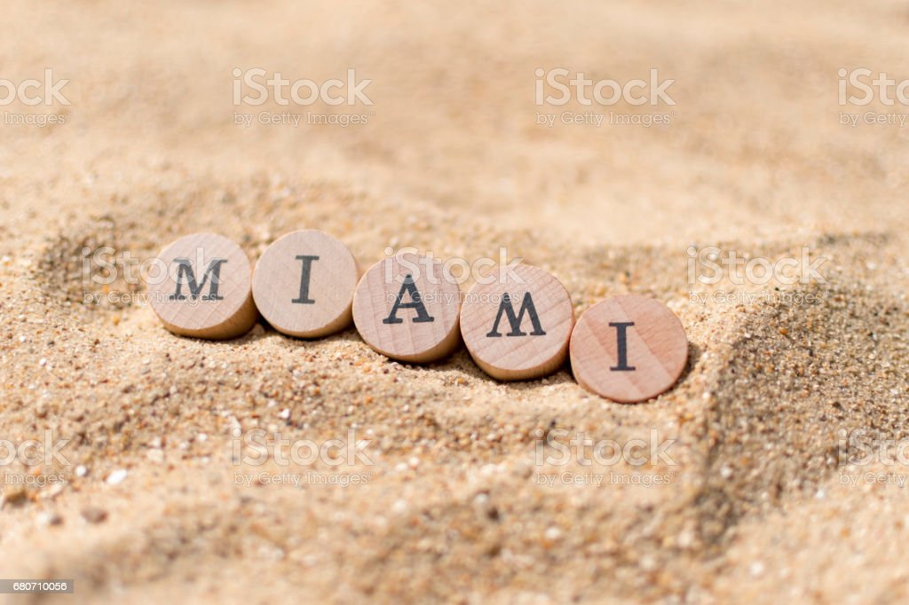 Miami Beach / Sand concept stock photo