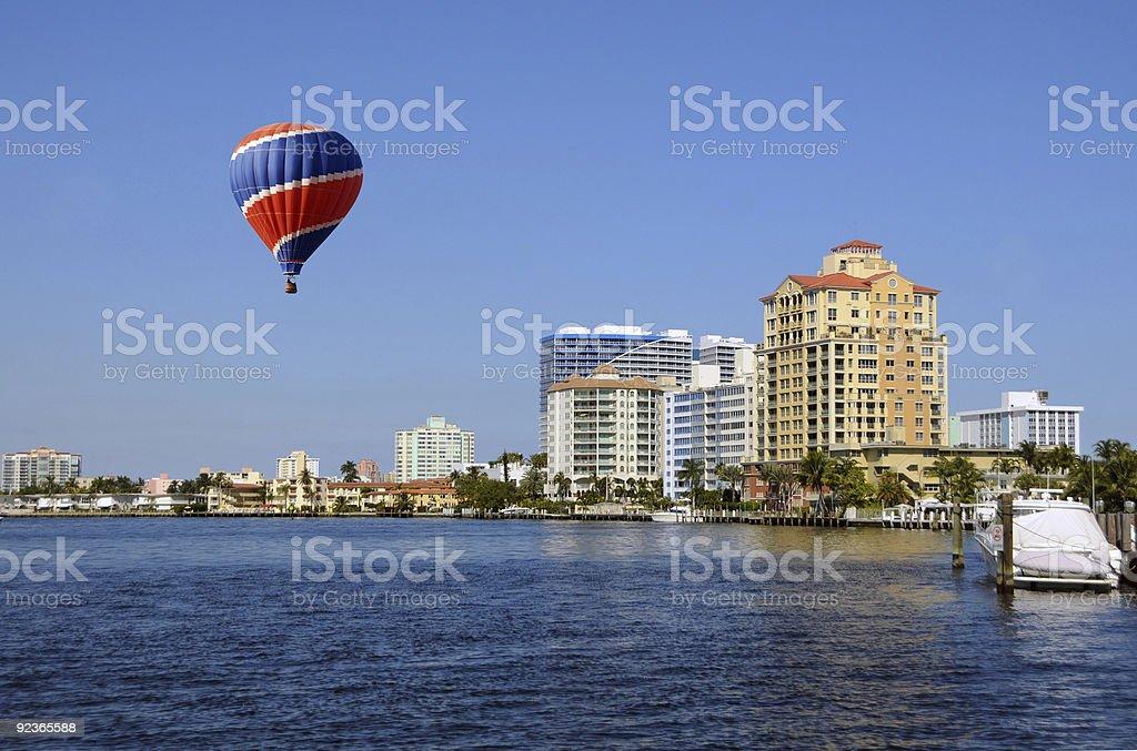 Miami beach scenery royalty-free stock photo