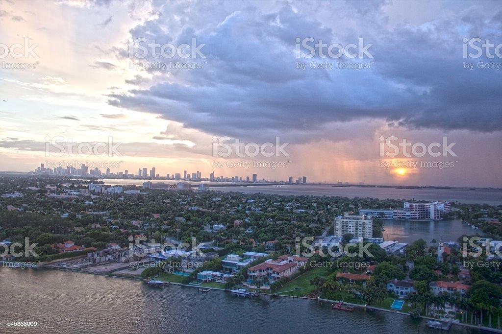Miami Beach Storm Chasers stock photo