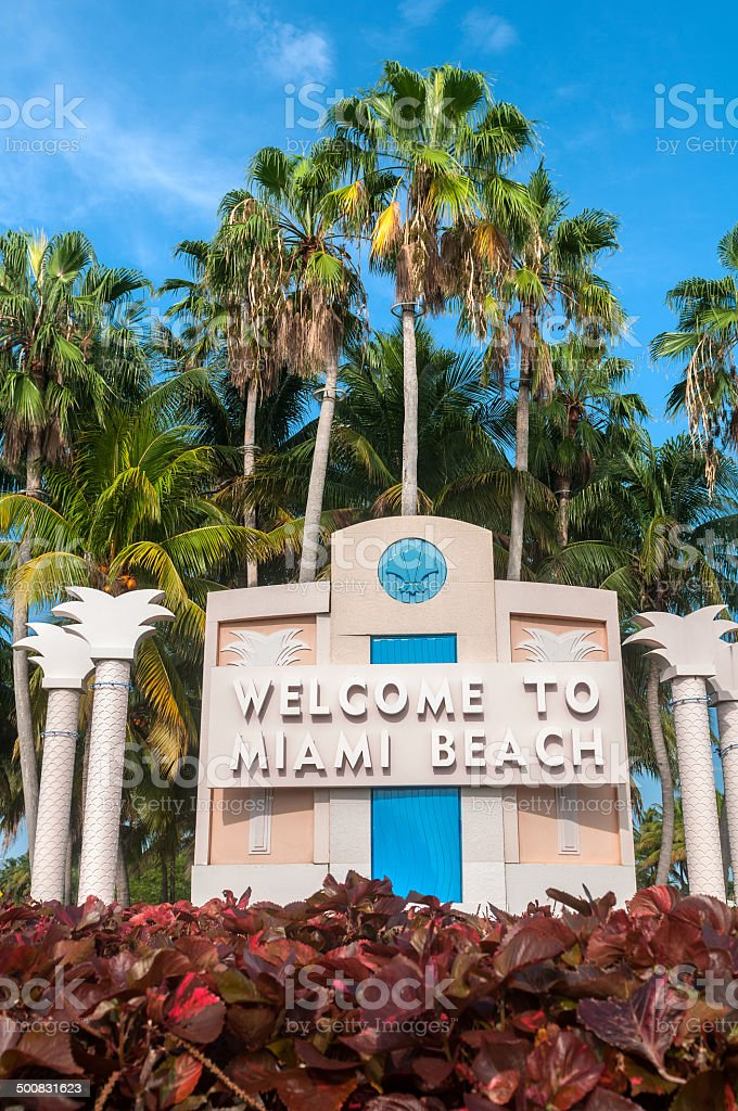 Miami Beach Welcome stock photo | iStock