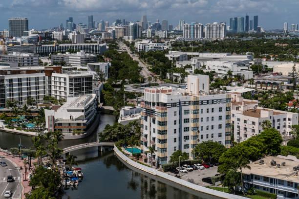 Miami Beach West View stock photo