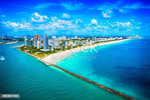 istock Miami Beach Wide Angle Aerial View 680691894