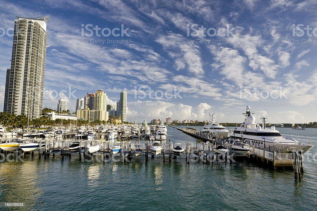 Miami Boats Show stock photo