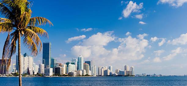 Miami Brickell City Skyline Florida USA stock photo