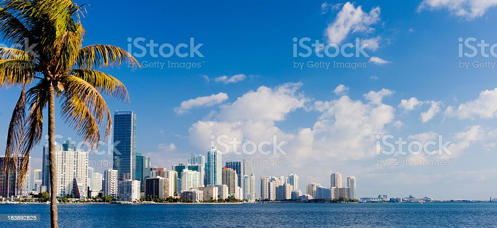 Miami Brickell City Skyline Florida USA stock photo
