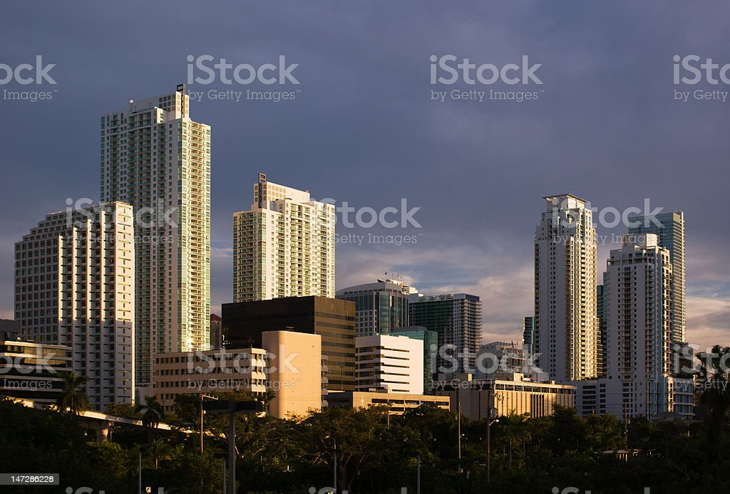 Miami Buildings royalty-free stock photo