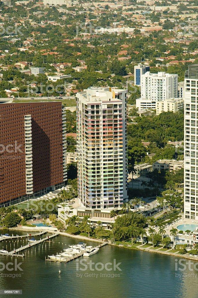 Miami city apartments royalty-free stock photo