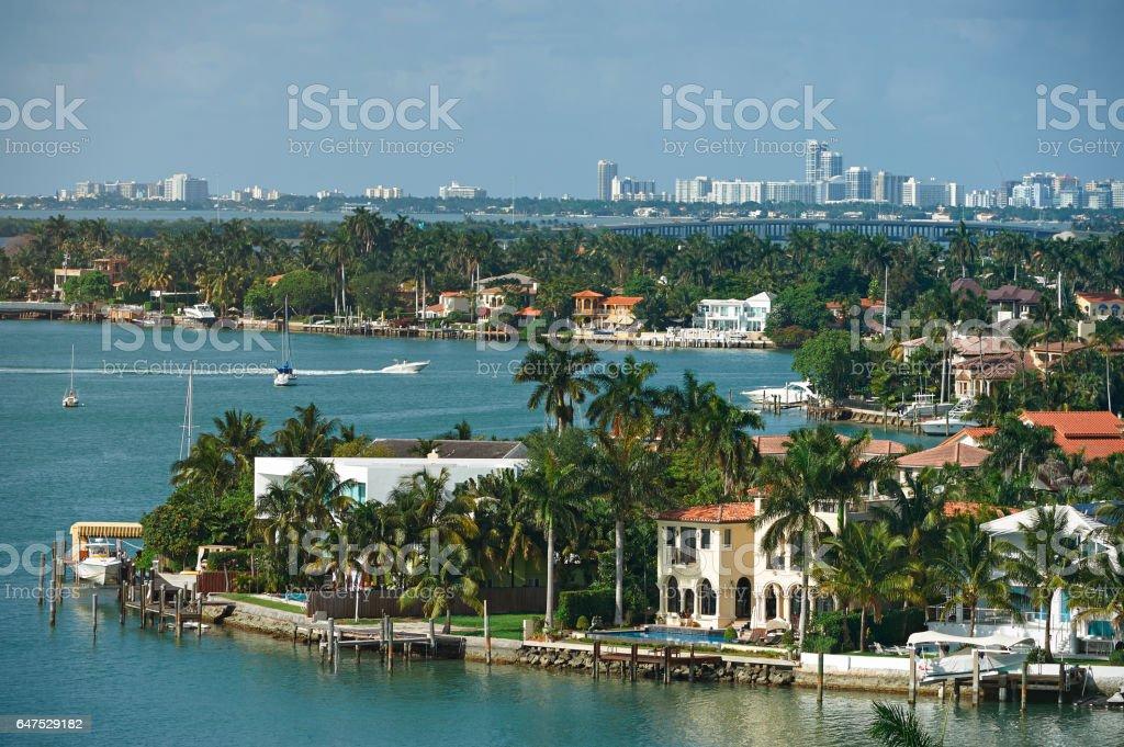 Miami cityscape during day stock photo