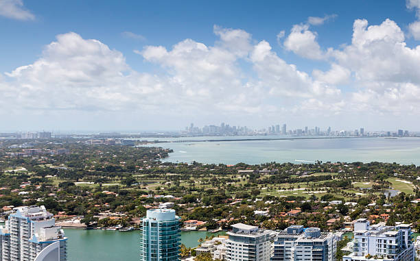 Miami Cityscape from a different point of view stock photo