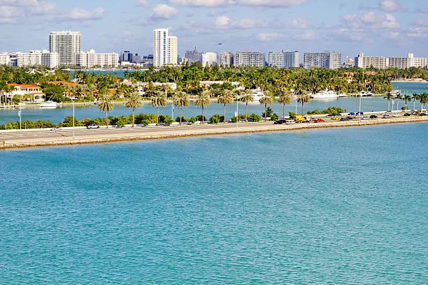 Miami Coastline stock photo