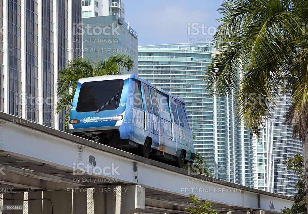 Miami commuter train stock photo