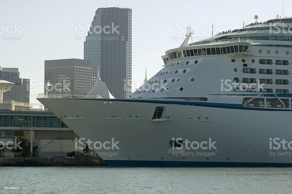 miami cruise ship royalty-free stock photo