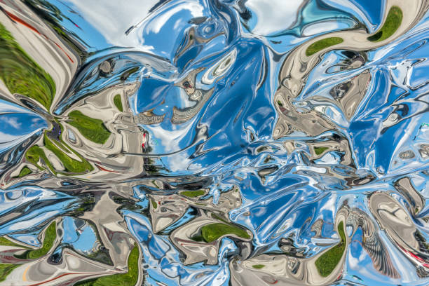 miami distorted reflections - distorted image stock pictures, royalty-free photos & images