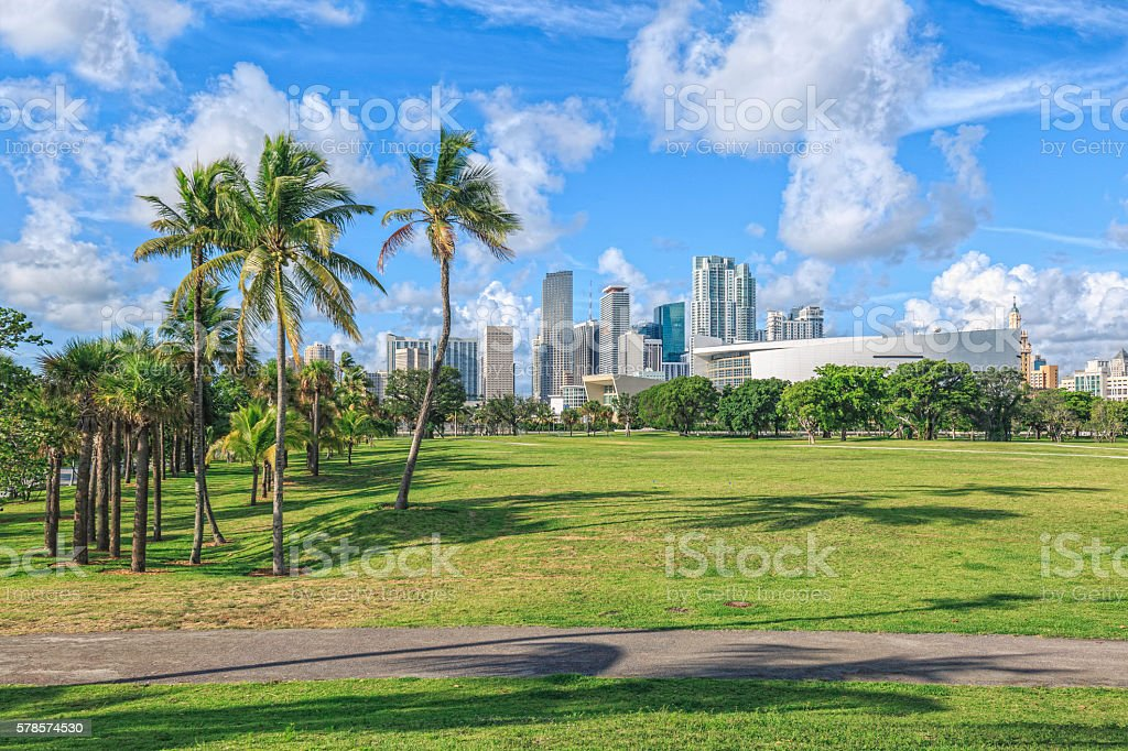 Miami Downtown stock photo