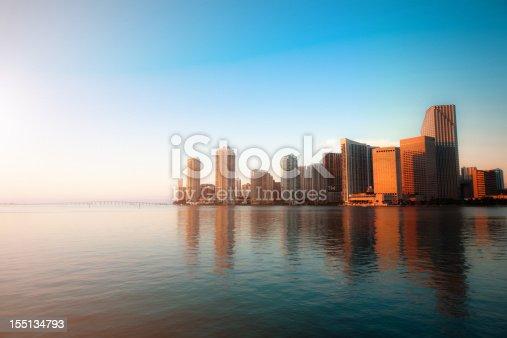 istock Miami Downtown Skyline with Skyscraper Reflection 155134793