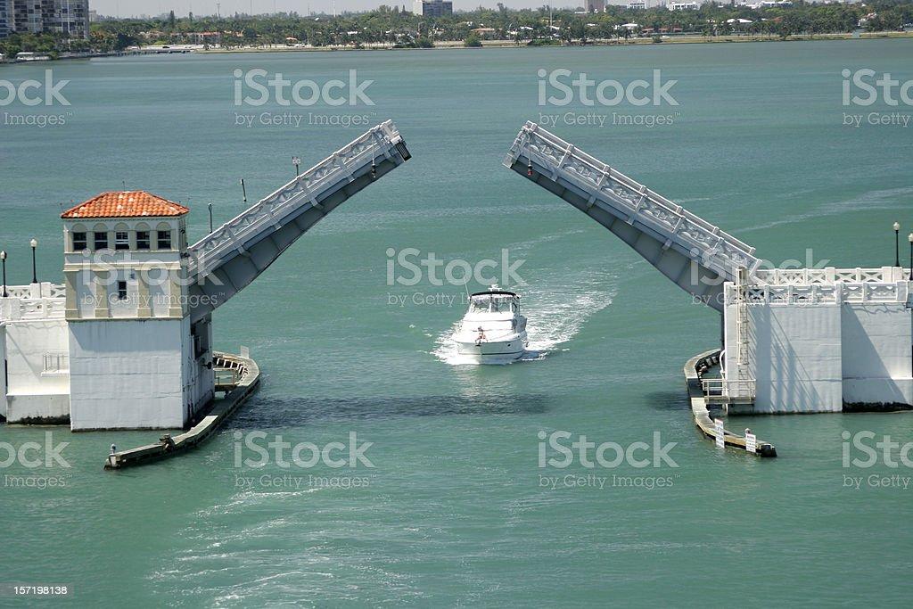 Miami Drawbridge stock photo