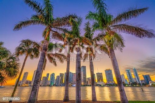 istock Miami, Florida, Coastal Skyline 972185060