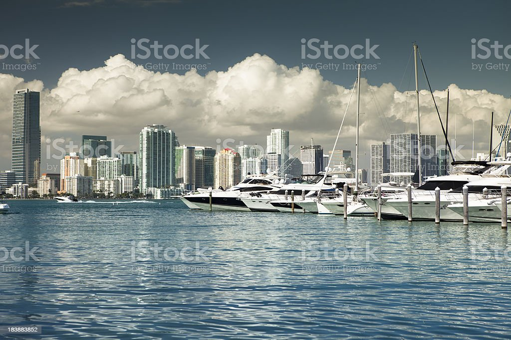 Miami Florida daytime skyline royalty-free stock photo