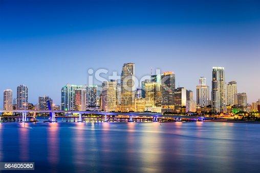 Miami, Florida, USA downtown skyline.