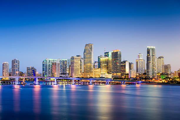 Skyline di Miami, Florida - foto stock