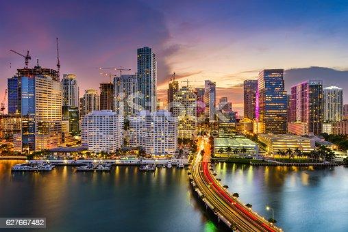 istock Miami, Florida, Skyline 627667482