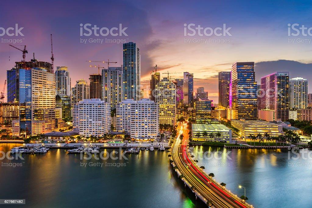 Miami, Florida, Skyline stock photo
