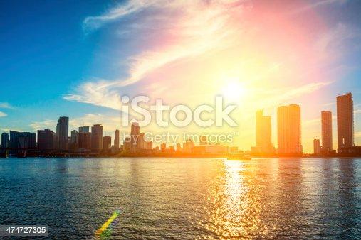 istock Miami Florida, sunset 474727305