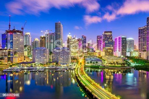 istock Miami, Florida, USA Biscayne Bay Skyline 964442946