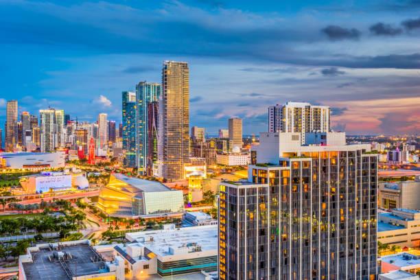 Miami, Florida, USA Skyline stock photo
