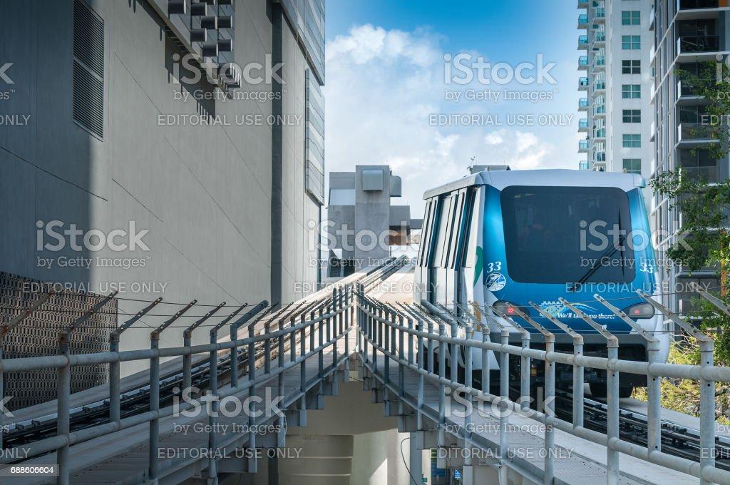 Miami free ride stock photo