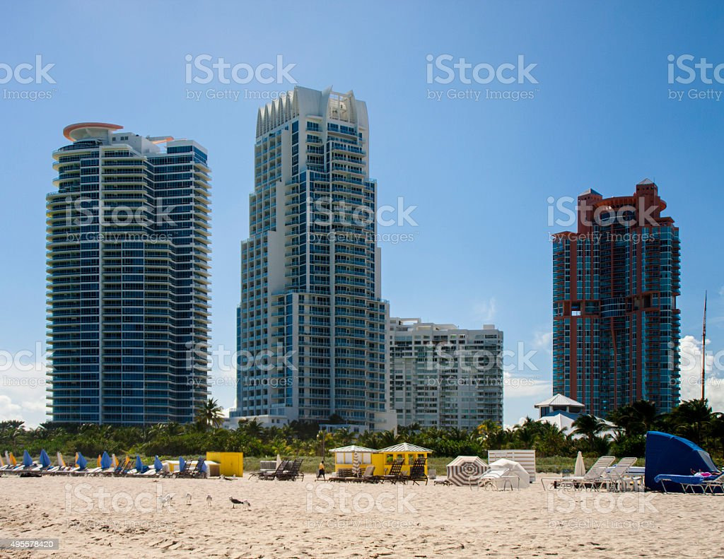 miami hotel 2 stock photo