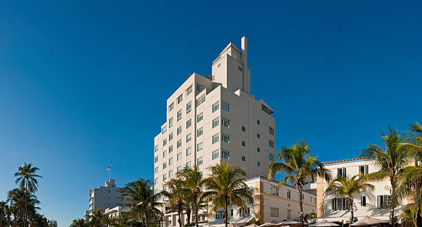 miami hotels south beach - art deco stock photos and pictures