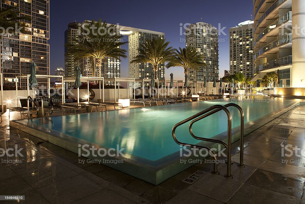 Miami Infinity Pool at Epic Hotel stock photo