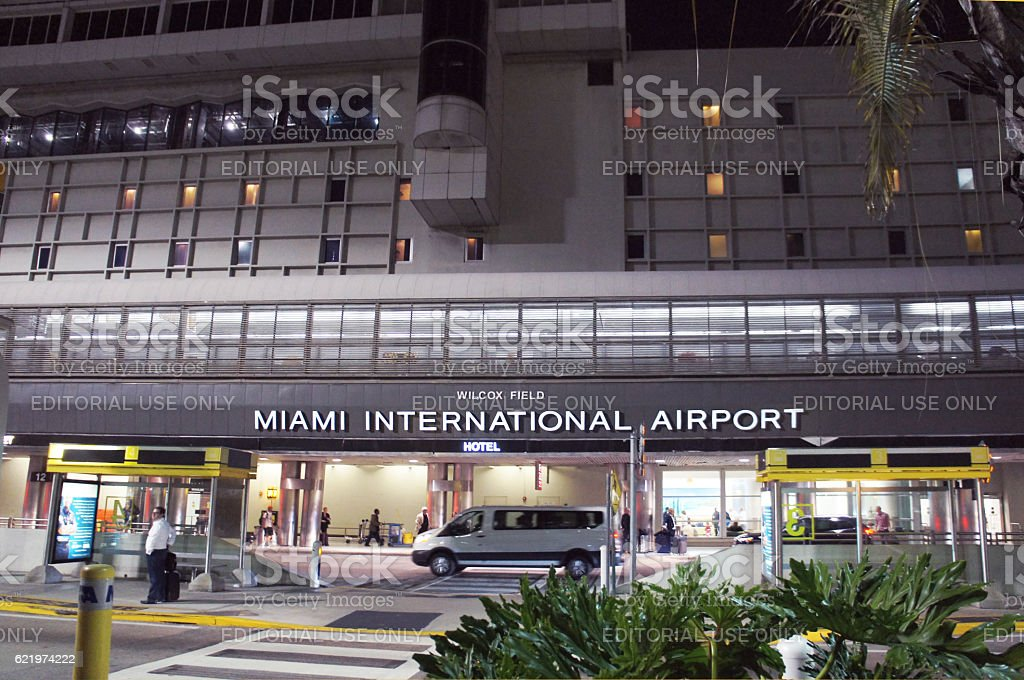 Miami International Airport in Miami stock photo