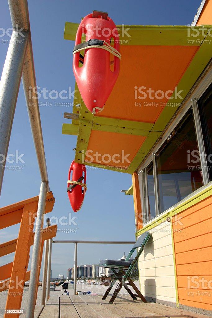 Miami- lifeguard station royalty-free stock photo