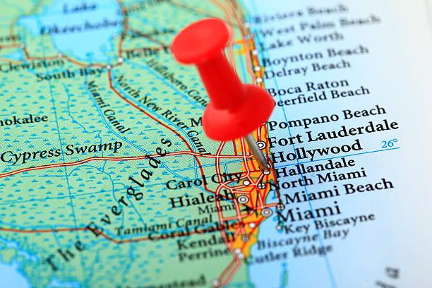 Karte von Miami, Florida – USA – Foto