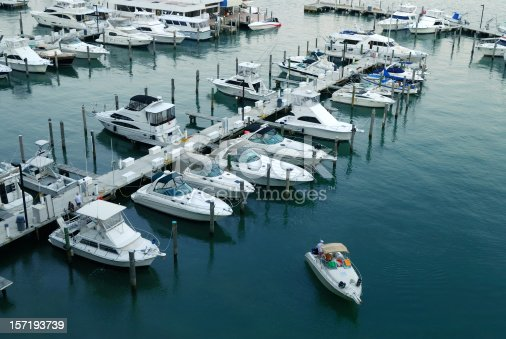view of a miami marina, beside the venetian causeway