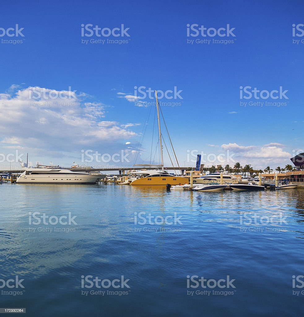 miami marina royalty-free stock photo