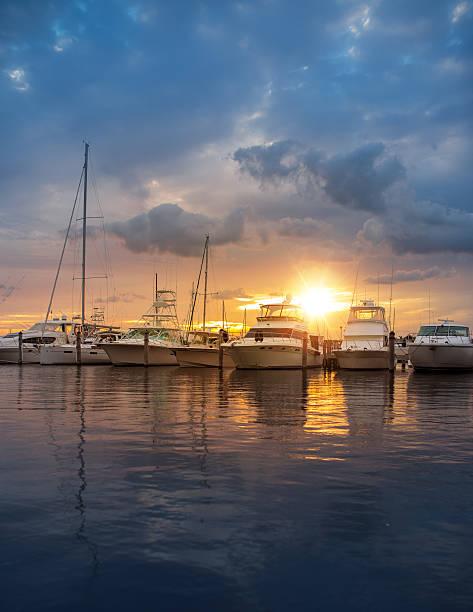 Miami a marina - foto de acervo
