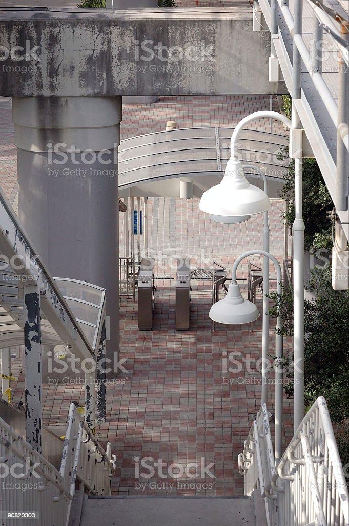 miami metromover access stock photo