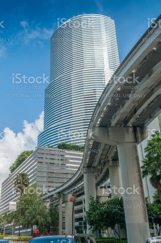 Miami metromover overpass stock photo
