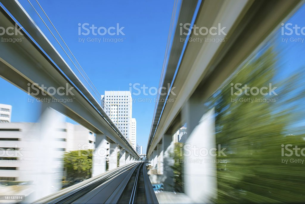 Miami Metromover royalty-free stock photo