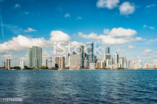istock Miami modern city panorama, Florida 1127442243