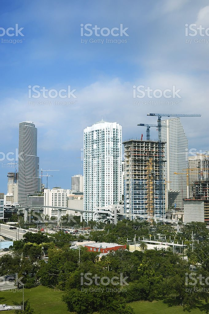 miami modern condo construction royalty-free stock photo