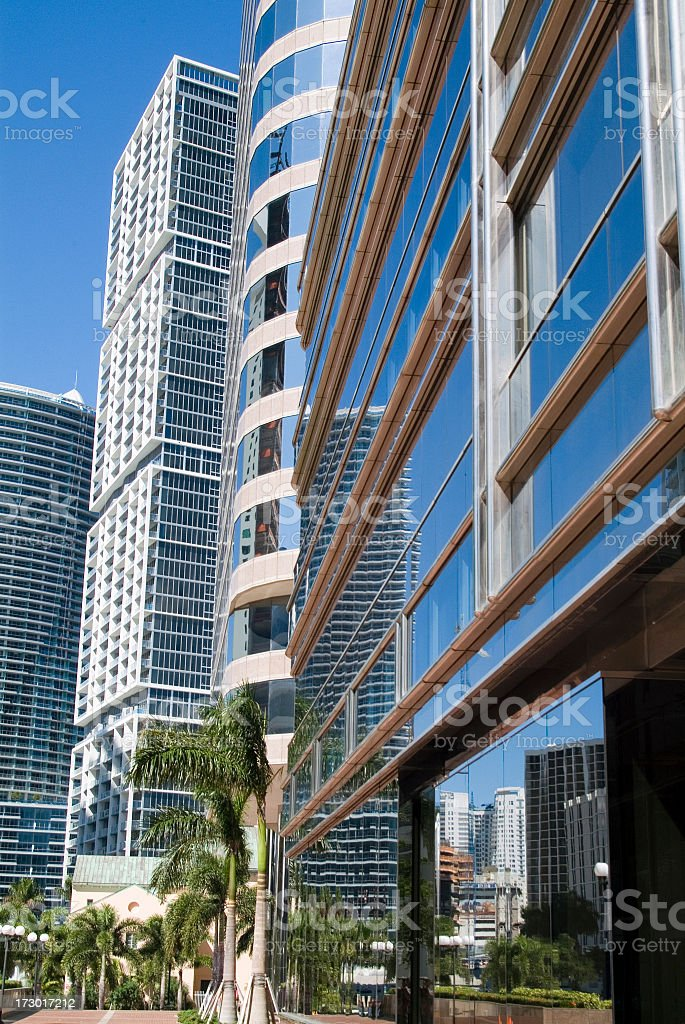 An office park along Brickell Avenue in downtown Miami.