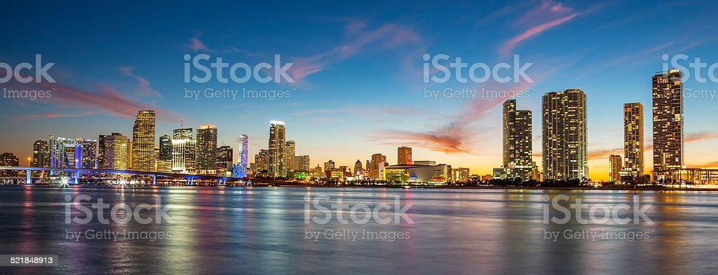 Miami, panoramic view stock photo